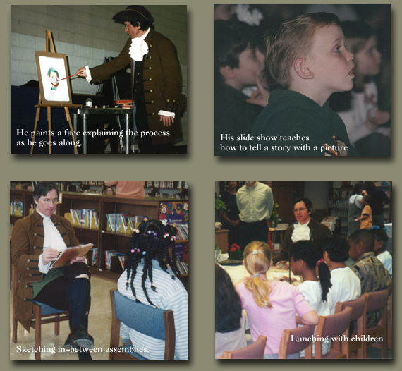 Pictures from School Visits - History Through Picture Books School Program 856-546-6507